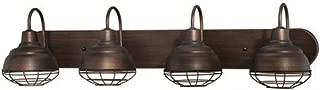 Millennium 5424-RBZ Four Light Vanity, Bronze/Dark