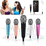 Mini Microphone, Tiny Microphone, Karaoke Microphone/Pet Sniffing Microphone With mic stand for Man/Pet Voice Recording Shouting and sing (Black)