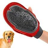 QWEPU Guante de Aseo para Mascotas, 2 en 1, Guante de Masaje para Mascotas, Guante para Eliminar el Pelo de Mascotas, Guante de Masaje con Doble Cara para Perros y Gatos