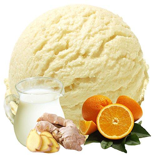 Buttermilch Apfelsine Ingwer Geschmack 333 g Gino Gelati Eispulver für Ihre Eismaschine