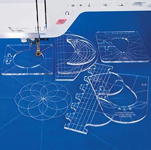 New Ruler Template Sampler Set for Domestic Sewing Machine 1 Set = 6pcs #RL-06 by AdvancedShop