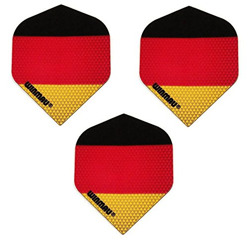Art Attack Winmau Mega 3 Pack Germany Deutsch Flagge Deutschland 75 Mikron Starke Dart Flights