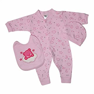 Papillon Embroidered Bear Patterned Clothing Set for Girls