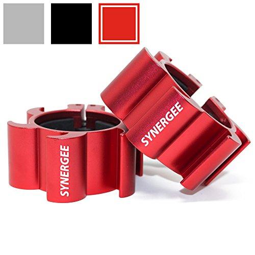 Synergee Rogue Red Aluminium Barbell Collars – Locking 2