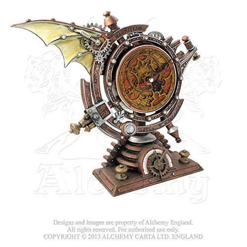 Alchemy Home Décor Mantel Clock Steampunk Celestial Chronometer Mapping Passing Eternal Time
