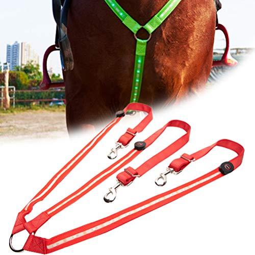 SyeRum LED Pferdegeschirr,LED Brustgurt Pferdegeschirr mit LED Licht,Pferdegeschirr Pferde Brustgurt,Robuste und Komfortable Sicherheitsausrüstung Beste Sichtbarkeit beim Reiten für sichtbares Pferd