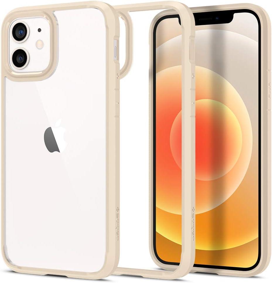 Spigen Ultra Hybrid Designed for Apple iPhone 12 Case (2020) / Designed for iPhone 12 Pro Case (2020) - Sand Beige