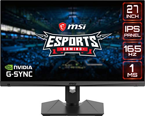 MSI Optix MAG274R2 Monitor Gaming de 27 Pulgadas, Pantalla 16:9 (FHD) 1920 x 1080, frecuencia 165 Hz, Tiempo de Respuesta 1 ms, Panel IPS, FreeSync Premium, MSI Gaming OSD, VESA 100 x 100 mm