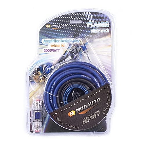MODAUTO Kit de cableado para Sistema de Audio de Coche, AK-4 2000W, Modelo I053