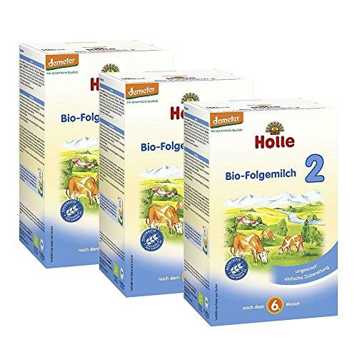 Lot de 3 laits 2ème âge Holle-Bio n°2-3 boîtes de 600 g