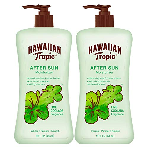 Hawaiian Tropic Lime Coolada Body Lotion and Daily Moisturizer After Sun, 16 Ounces - Pack of 2