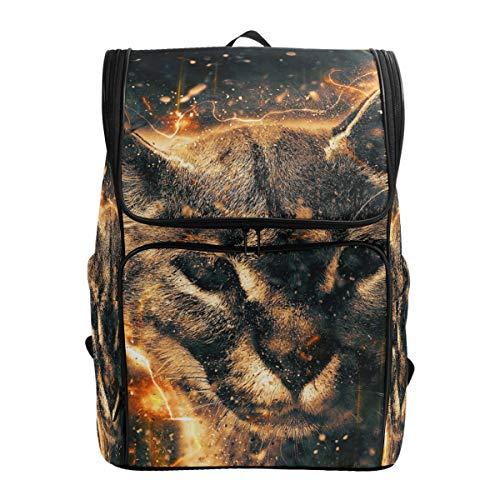 Mokale Lynx Illustration,Backpack Rucksack Travel Bag Hiking Knapsack College Student School Bookbag Travel Daypack for Men or Women