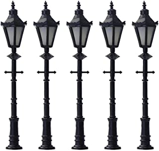 JINN-Model Building Kits - 10pcs Model Railway Lamppost LED Park Lanterns Street Lamp Model Making Railway HO/OO 6.5cm Fre...