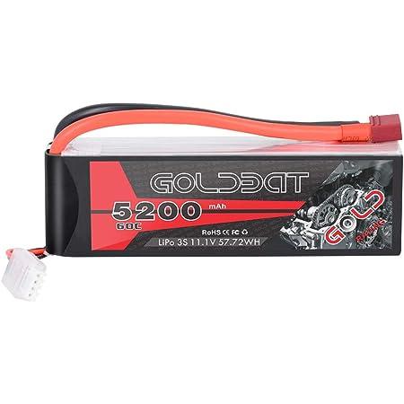 GOLDBAT Batterie RC 3000 mAh 11.1 V 3S 30C Lipo Batterie avec connecteur Dean T suppl/¨/¦mentaire XT60 pour RC Car Boat Truck Heli Airplane
