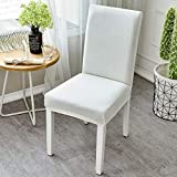 MAIKEHOME Dinning Chair Cover Protector Chair Slipcovers Stretchy Spandex Removable Washable for Hotel Dining Room Kitchen Bar Dining Restaurant Wedding Party Decor (White)