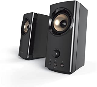 Creative T60 2.0 Compact Hi-Fi Desktop Speakers with Clear Dialog and Surround by Sound Blaster, USB-C Audio, Mic and Head...