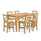 7 Pc counter height Dining room set-pub Table and 6 bar stools with backs