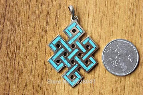 Jtivcs PN178 Tibetanos Sin Fin Los amuletos Nepal Latón Semi-Precioso Colgantes de Piedra Tíbet Amuletos Colgante