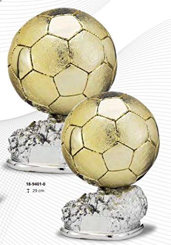 RegalosDeBodaOnline Trofeo réplica balón de Oro Personalizado Grabado trofeos Deportivos Personalizados