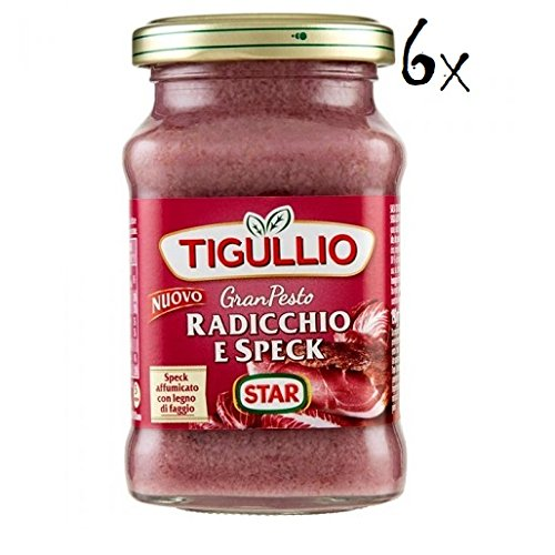 6x Star Tigullio GranPesto Pesto Radiccio e speck 190 g Sauce Soß