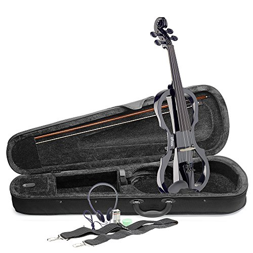 Set de violín eléctrico Stagg EVN X-4/4BK tamaño completo, color negro