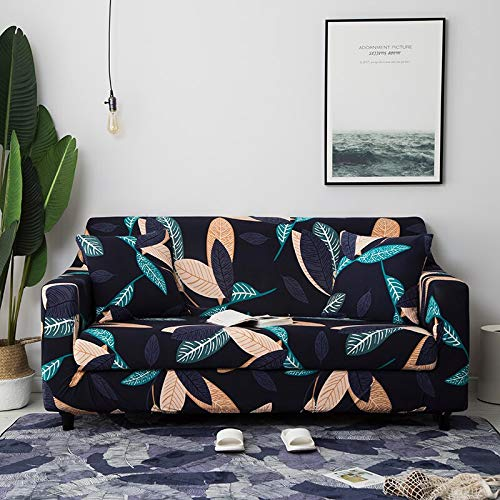 ASCV Fundas de sofá elásticas universales para Sala de Estar sofá Toalla Funda de sofá Antideslizante Funda de sofá elástica A4 1 Plaza