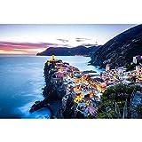Puzzle Legno Jigsaw Vista di Notte Cinque Terre, Italia Scenario 500/1000/1500/2000/3000/4000/5000 Pezzi Giocattoli Come Un Regalo della Decorazione 0810 (Size : 2000 Pieces)