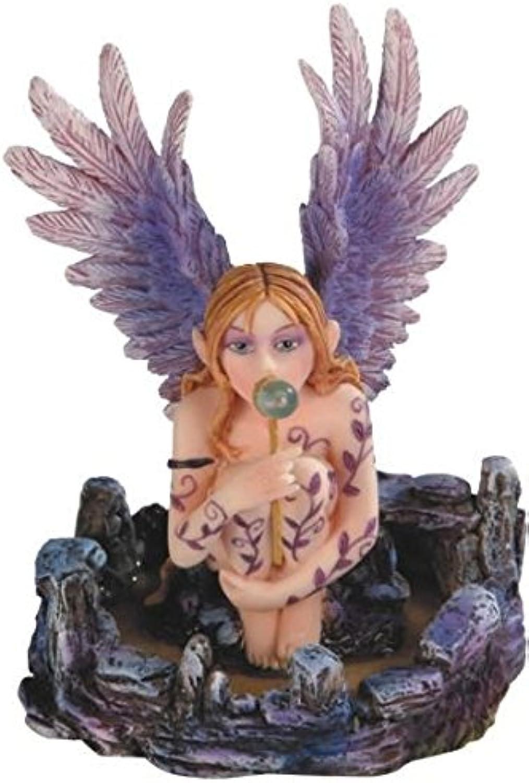 StealStreet ss-g-91592 lilat geflügelten Engel Fee sitzend und Blowing Bubbles Statue B007C8W13M Abrechnungspreis    | Zu verkaufen