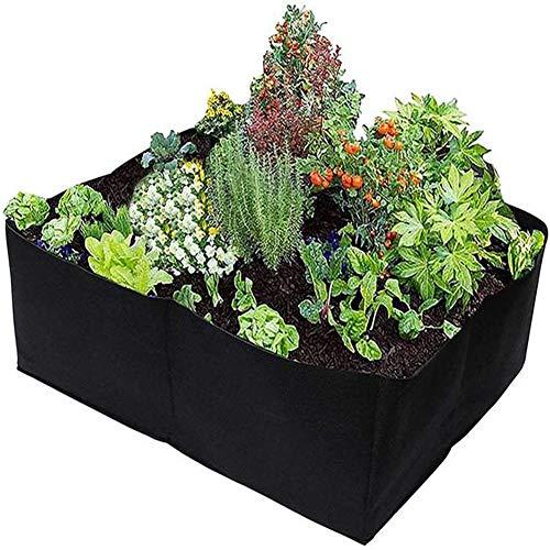 Bolsas para Plantas,Macetas De Jardín, Camas Elevadas, Bolsas De Cultivo De 4 X 17-Gallon, Macetas De Tela De Aireación para Hortalizas, Flores Y Verduras