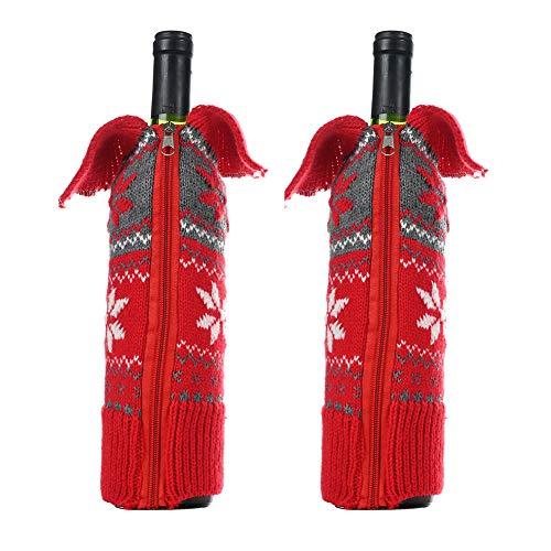 Botones Suéter de Nieve Cubierta de Botellas de Vino de Navidad, Lindo...