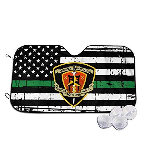 BI HomeDecor Parasol De Coche,3Er Batallón 3Er Marines Parasol De Ventana Delantera, Persianas De Ventanilla De Coche Únicas para Camioneta SUV,70x130cm