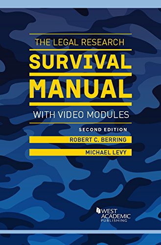 The Legal Research Survival Manual with Video Modules (Career Guides)