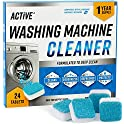 24-Pack ACTIVE Washing Machine Cleaner Descaler Deep Cleaning Tablets