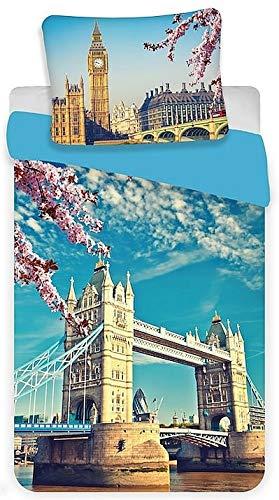 London Tower Bridge – Juego de cama Londres – Funda nórdica de...