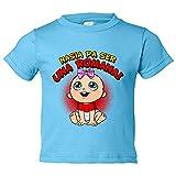 Camiseta niño nacida para ser una Romana Tarragona fútbol - Celeste, 5-6 años