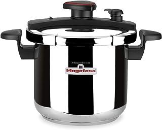 comprar comparacion MAGEFESA ASTRA Olla a presión super rápida de fácil uso, acero inoxidable 18/10, apta para todo tipo de cocinas, inducción...