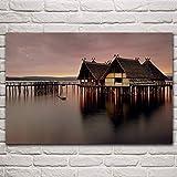 jiuyaomai Bild gedruckt auf Leinwand See Konstanz