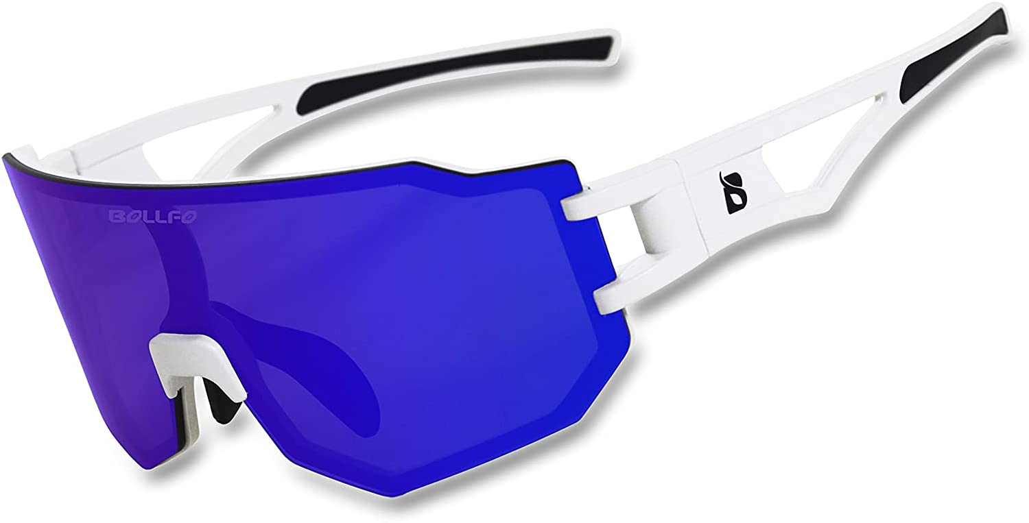 BOLLFO Sports Sunglasses with Save money 3 Wome 100% quality warranty Lenses Mens Interchangeable