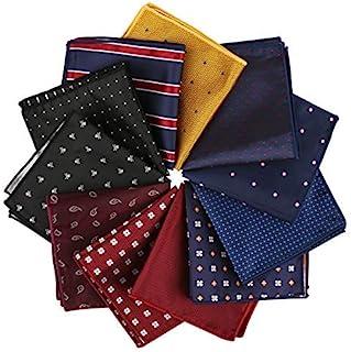 Driew 6PCS Men Paisley Pocket Square Set Retro Vine Handkerchief Wedding Party