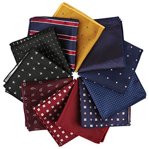 Driew 11 Pcs Men Suit Pocket Square…