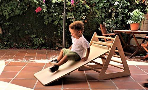 Desconocido Triángulo Pikler con rampa Juguetes Desarrollo Montessori (triángulo con rampa)