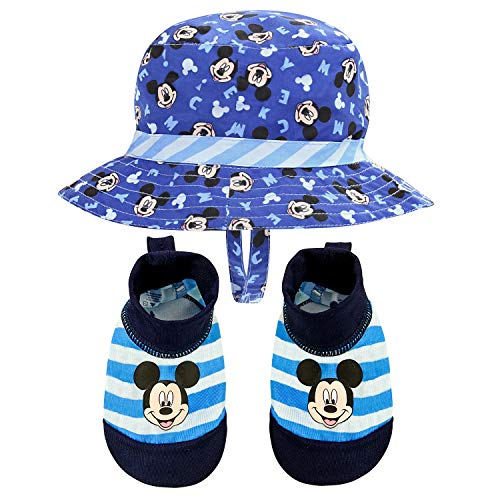 Disney Mickey Mouse Sunny Fun Swim Hat and Swim Booties 0-12...