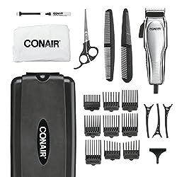 commercial Conair custom cut 21 piece set. Household haircut set.chromium conair even cut hair clipper