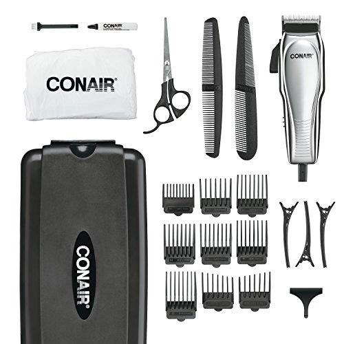 Conair personalizado Cut 21 peças Haircut Kit; Cabelo casa de corte Kit; cromada