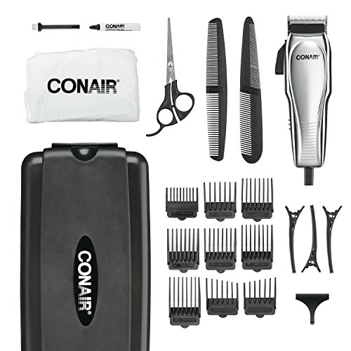 Price comparison product image Conair Custom Cut 21-piece Haircut Kit; Home Hair Cutting Kit; Chrome