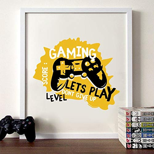 NSRJDSYT Joypad Gaming Illustrazione Poster Ragazzi Wall Art Stampe su Tela Gaming Let's Play Art Pittura Immagine Kids Room Wall Decor 50x75cm Senza Telaio