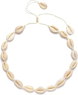 CENAPOG Cowrie Shell Choker Necklace for Women Puka Shell...