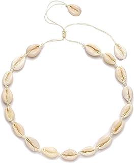 CENAPOG Pearls Shell Choker Necklace for Women Seashell...