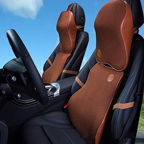 Reposacabezas del coche almohada para el cuello silla de oficina almohada para el cuello lumbar serie Buick dedicada cuatro estaciones transpirable, cómoda, amarilla