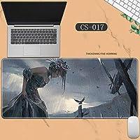 素敵なマウスパッド特大アイスプリンセスゴーストナイフ風チャイムプリンセスアニメーション肥厚ロック男性と女性のキーボードパッドノートブックオフィスコンピュータのデスクマット、Size :400 * 900 * 3ミリメートル-CS-017
